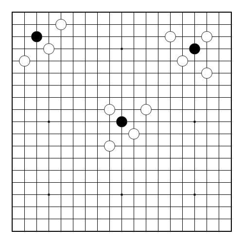 Способы не прямого захвата камней в сан-сан (3-3) и хоси (4-4)