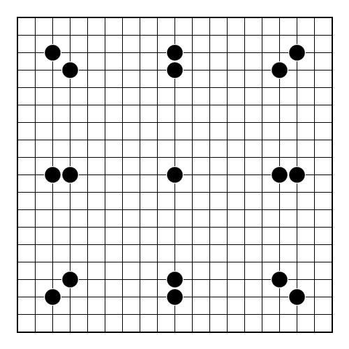 Игра Го на форе в 17 камней.