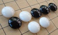 Корейские чечевичные камни го, специальное стекло.