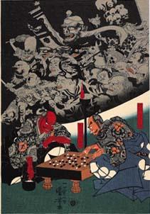 Самураи играют в Го.