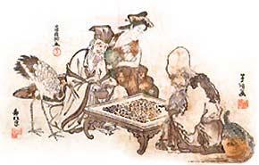 Лао-цзы и Конфуций играют в Го